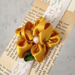 Baby Headband with Handmade Ribbon Flower